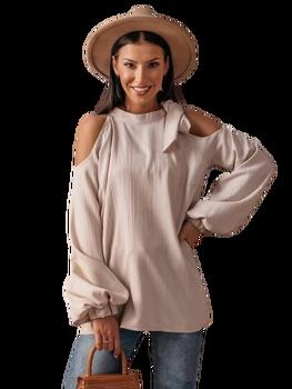 Cocomore bluzka elegancja beżowa wiązana