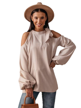 Cocomore bluzka Linea beżowa wiązana