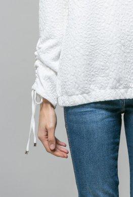 Monnari Bluza biała ze ściągaczami