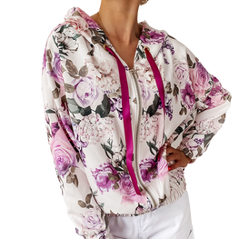 Cocomore bluza FLOWER rozpinana fioletowa
