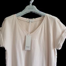 LEMONADA Bluzka t-shirt beżowa dekolt V