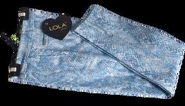 Lola Fashion spodnie cygaretki extra niebieskie