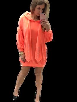 PAPARAZZI FASHION Sukienko Bluza welur Orange Premium