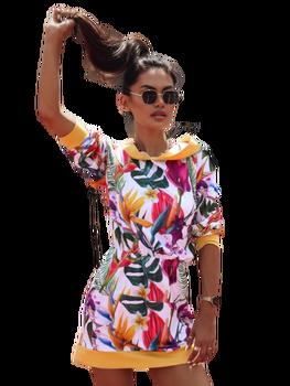 COCOMORE sukienka TROPICA musztardowa