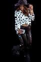 COCOMORE Spodnie extra połysk czarne (1)