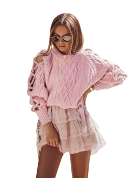 COCOMORE Sweter LUXE pudrowy różowy