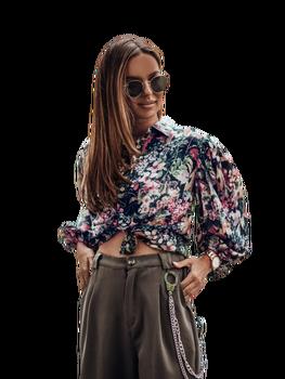 COCOMORE Koszula bluzka MEMBER khaki kolor