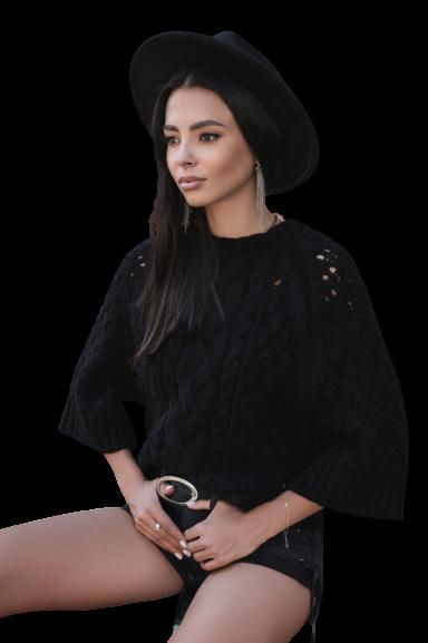 COCOMORE Sweter BEAUTY czarny (1)