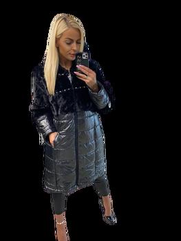 Paparazzi Fashion Płaszcz Premium futerko czarny