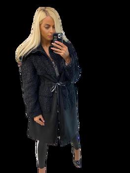 Paparazzi Fashion Płaszcz Premium czarny niedźwiedź