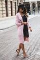 COCOMORE Sweter ażurowy różowy pudrowy (3)