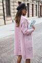 COCOMORE Sweter ażurowy różowy pudrowy (2)