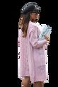 COCOMORE Sweter ażurowy różowy pudrowy (1)