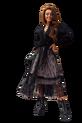 COCOMORE Spódnica PREMIUM czarny pisany tiul czarna podszewka (3)