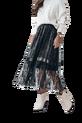 COCOMORE Spódnica PREMIUM czarny pisany tiul czarna podszewka (1)