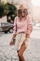 COCOMORE Sweter pudrowy róż z rulonem (3)