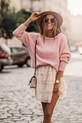 COCOMORE Sweter pudrowy róż z rulonem (2)