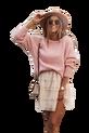 COCOMORE Sweter pudrowy róż z rulonem (1)