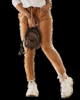 O LA VOGA Spodnie MELLOW karmelowe