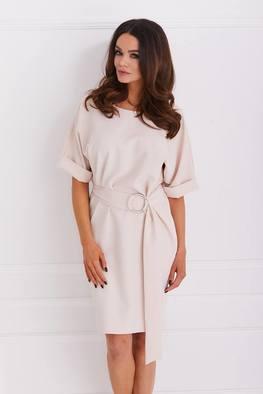 COCOMOORE Sukienka elegancka ciepły beż