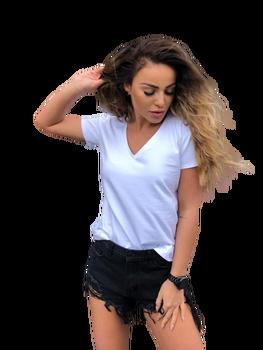 Me Gusta Bluzka t-shirt Basic biała