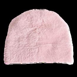 Made in Italy czapka typu alpaka gruba pudrowa tył zakładki