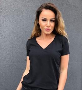 Me Gusta Bluzka t-shirt Basic czarna