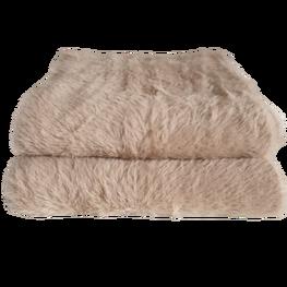Made in Italy Szalik dzianina alpaka beżowy