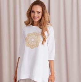 COCOMORE Bluza Trapez biała elegancka