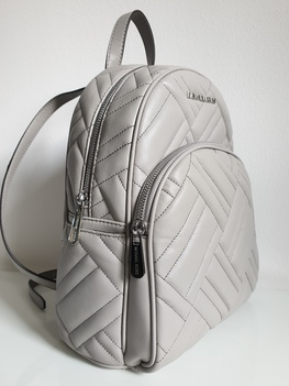 MICHAEL KORS BACKPACK PEARL GREY MEDIUM pikowany