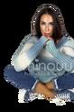 MINOUU SWETER AURORA OMBRE niebiesko biały (1)