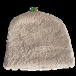 Made in Italy czapka typu alpaka gruba wygodna beżowa cyrkonie