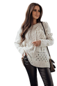 COCOMORE Sweter styl BOHO kremowy (1)
