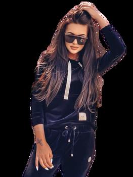 LUISE Bluza AMY welurowa kolor czarny