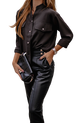 Simplicity Bluzka elegancka koszulowa czarna (1)