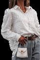Simplicity Bluzka elegancka biała koszula kropki (1)