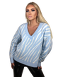 BOCCA Sweterek ZEBRA błękit biały BLUE BABY (1)