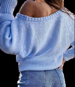 BOCCA Sweterek STYLOWY BŁEKITNY