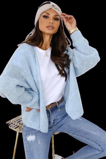BOCCA Sweterek ELEGANCKA NARZUTKA niebieski blue baby (1)
