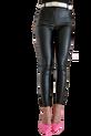 BY ME Spodnie NEW WOSKOWANE czarne kieszenie (1)