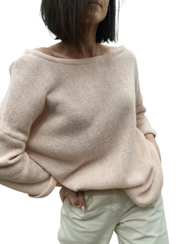 Simplicity Bluza sweterkowa OVER MORELOWA