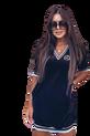 LUISE Sukienka welurowa MISS LUI czarna (1)
