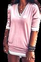 LUISE Sukienka welurowa MISS LUI pudrowa różowa (1)