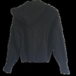 LA MANUEL sweterek z kapturem LOGO SOUR SWEET czarny