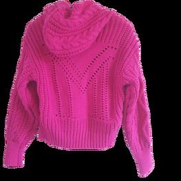 LA MANUEL sweterek z kapturem LOGO SOUR SWEET mocny róż