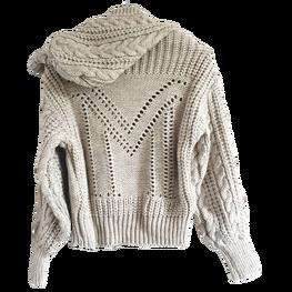 LA MANUEL sweterek z kapturem LOGO SOUR SWEET beżowy