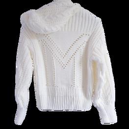 LA MANUEL sweterek z kapturem LOGO SOUR SWEET kremowy