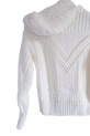 LA MANUEL sweterek z kapturem LOGO SOUR SWEET kremowy (1)