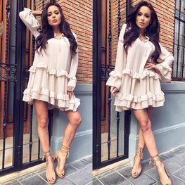 Sukienka Spanish beż Lola Fashion