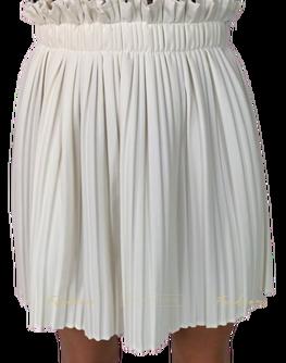 Made in Italy Spódniczka plisowana biała